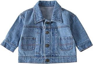 BANGELY Kids Baby Boys Girls Cartoon Bear Denim Jacket Washed Jean Coat Fall Winter Casual Button Down Outerwear