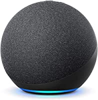 Echo (4th Gen, 2020 release) | Premium sound powered by Dolby and Alexa (Black)