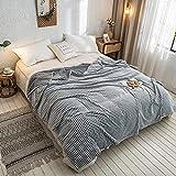BraveLiuzhi Gelb Plaid für Betten Korallen Fleece Decken Grau Farbe Plaids Einzelnen/Königin/König Flanell Bettdecken Weiche Warme Decken für Bett150x200cm