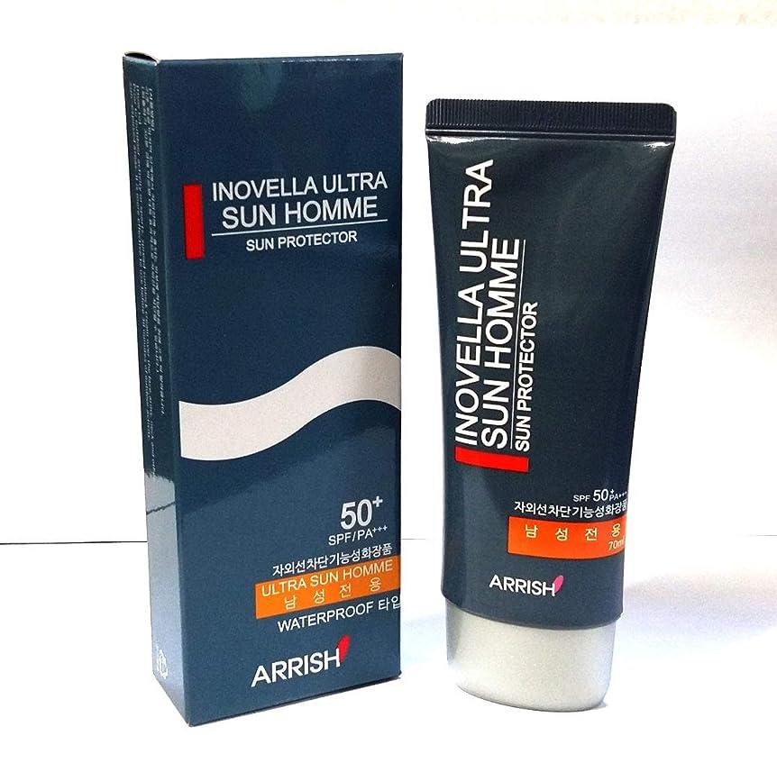 帰るトースト電球[INOVELLA] ウルトラサンブロッククリームオム70ml / Ultra Sun Block Cream Homme 70ml/SPF50+PA+++/男性のみ/韓国化粧品/Male only/Korean Cosmetic (1EA) [並行輸入品]