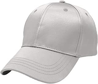 ABOOFAN Fashion Peaked Cap Color Baseball Cap Adjustable Sun Block Hat for Outdoor Sport Travel (Silver)