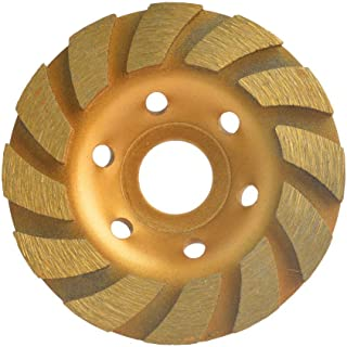 Gunpla 4 inch Concrete Turbo Diamond Grinding Disc Wheel 12 Segs Cup Masonry Granite Stone Cutting Heavy Duty Tool for Angle Grinder 105mm x 22.2mm