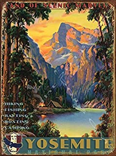 Yosemite National Park Metal Sign: Travel Decor Wall Accent, Vintage Advertising