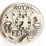 ShareArt Poker Wood Wall Clock Silent - Original Home Decor Office Living Room Bedroom Kitchen - Best Gift Idea for Friends Business Partners Men Woman - Unique Wall Art Design - Size 12 Inch
