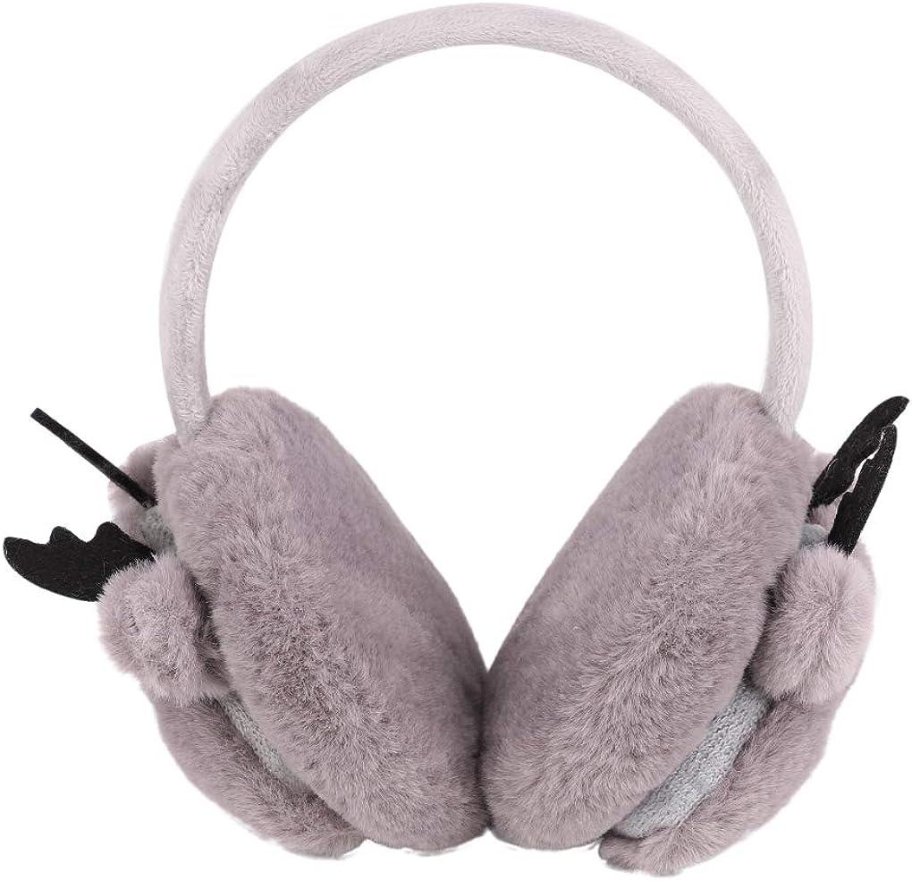 paraorecchie soffici e soffici Earlap Boy Girl Earlap Outdoor Ear Cover per orecchie da 3 a 10 anni Paraorecchie da bambino carino alce invernale in finta lana foderato in pile caldo e regolabile
