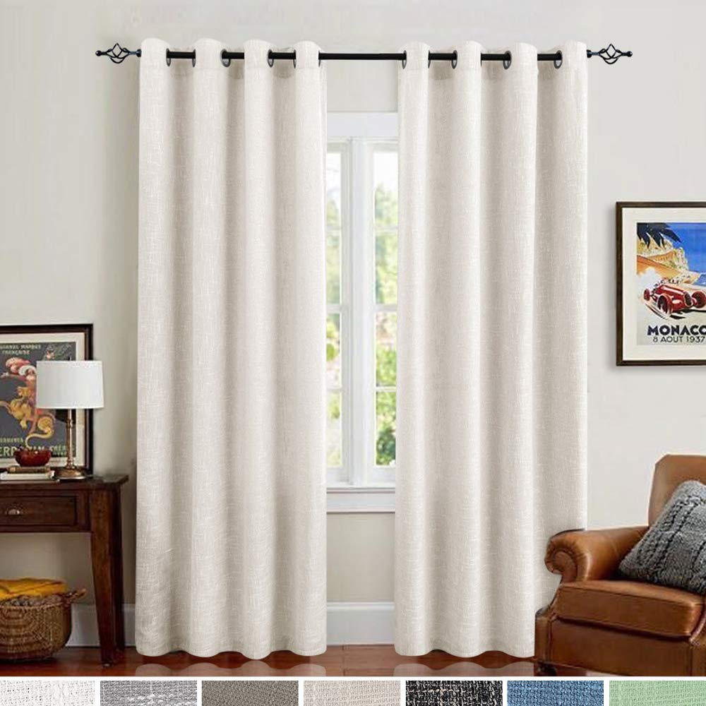 W29 x L18-Inch Taupe Home Fashion Grommet Blackout Curtain Panel Pieces NICETOWN Window Treatment Blackout Tier
