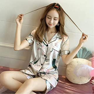 Summer Casual Silk Satin Pajamas
