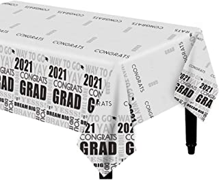 Dazonge Pack of 3 Graduation Table Covers/Tablecloth | Class of 2020 Decorations | 54''x110'' Rectangular | Indoor/Outdoor...