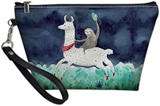 UZZUHI Hanging Makeup Bag Waterproof for Boys Girl Kids Teens Youth,Cartoon Cute Sloth Ride Llama Forest, Durable Cosmetic...