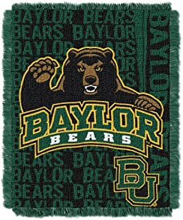 The Northwest Company Officially Licensed NCAA Baylor Bears Double Play Triple Woven Jacquard Throw Blanket, 48