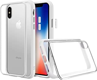 RhinoShield Modular Case for iPhone X [Mod NX] | Customizable Shock Absorbent Heavy Duty Protective Cover - Compatible w/Wireless Charging & Lenses - Shockproof White Bumper w/Clear Back