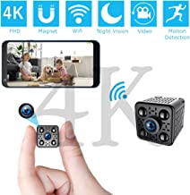 $43 » FHD 4K Spy Camera Wireless Hidden WiFi Small Camera with Night Vision, Motion Detection, Remote Viewing Mini Nanny Cam Vid...