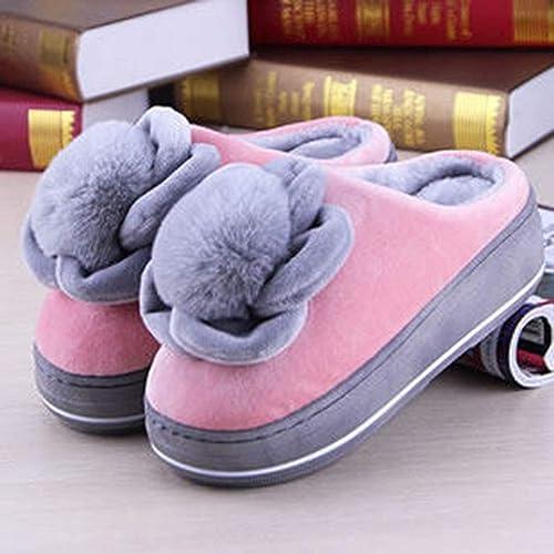 GPFDM Les Les Chaussures Anti-Dérapantes des Les Les dames De Pantoufles d'hiver De Coton à La Maison De Coton Chaud pour La Chaussure D'intérieur,3,3839  soutenir le commerce de gros