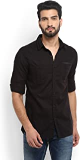 Mufti Solid Full Sleeves Shirt