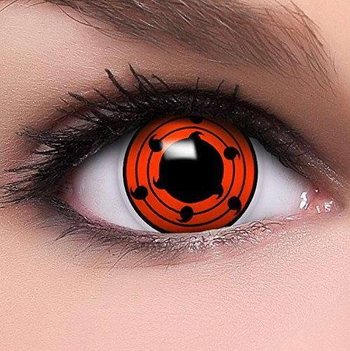 Sharingan Kontaktlinsen Juubi's Mangekyou in rot inkl. Behälter - Top Linsenfinder Markenqualität, 1Paar (2 Stück)