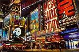 (24 x 36) New York City Theatre District Broadway, Times