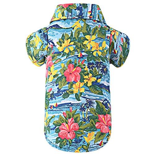 Hawaiian Pet Dog Polo T Shirts Cute for Small to Medium Puppy Cats Cool Summer Custom Vest
