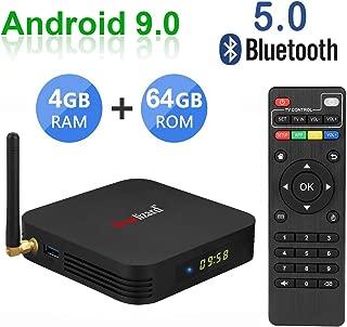 Greatlizard TX6 Android 9.0 Smart TV Box 4GB RAM 64GB ROM Quad Core 4K HD Resolution Dual WiFi 2.4G/5G Bluetooth 5.0 USB 3.0 Set Top TV Box