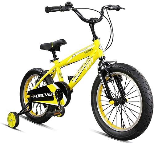 barato y de moda DT Bicicleta Bicicleta Bicicleta Infantil Bicicleta de Montaña para Niños de 3-6-8 años de Edad, en Bicicleta de Primaria Carrito de bebé de 16 Pulgadas (Color   amarillo)  costo real