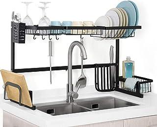 rangement et organisation de cuisine Vaisselle Etendoir dessus de l'évier, égouttoir étagère for cuisine Fournitures de ra...