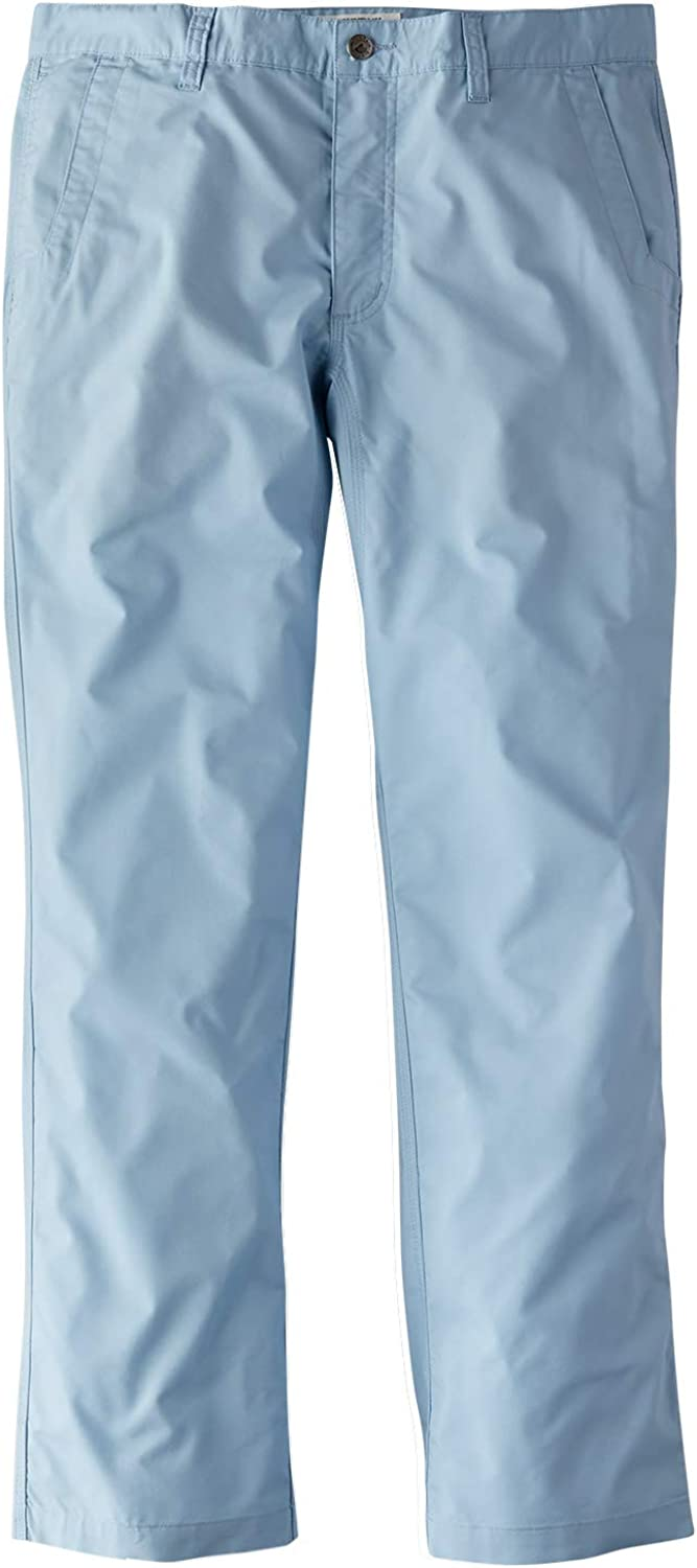 Mountain Khakis Mens Stretch Poplin Pant Relaxed Fit: Outdoor Hiking Casual Pants, Breeze, 34W 34L