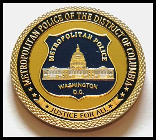 Washington DC Metropolitan Police Department Colorized Challenge Art Coin