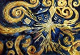 DIY 5D Diamond Painting Kits for Adults Full Drill Diamond Painting by Number Tardis Dr Who Doctor Telephone Booth Wall Decor Vincent Van Gogh Starry Night for Home Wall Decor Canvas size15.8x11.8in