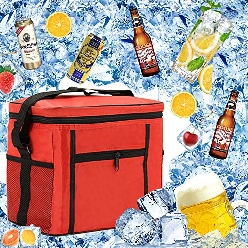Cooler Bag Beach,Bolsa Nevera Portatil Termica,Bolsa Lsotermica para Picnic,Bolsa Nevera Portatil,Lunch Bag,Bolsa Comida Termica,Bolsa con Aislamiento