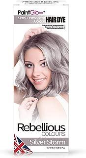 Paint Glow Halloween Rebellious Semi-Permanent Conditioning Hair Dye - Silver Storm 70ml