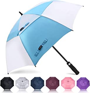 ZOMAKE Golf Umbrella 62/68 Inch, Large Windproof Umbrellas Automatic Open Oversize Rain Umbrella with Double Canopy for Men - Vented Stick Umbrellas