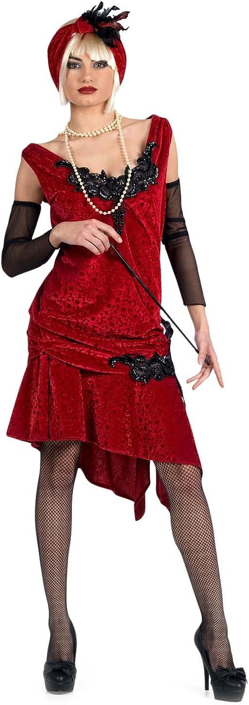 estar en gran demanda Limit Sport - Disfraz Disfraz Disfraz brocado de Charlestón para adultos, talla S (EA124)  precios mas baratos