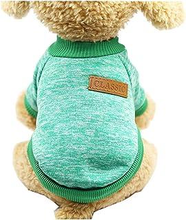Morbuy Ropa de Perros Gatos Suéter, Chaqueta Abrigo Cálido Suéter de Invierno Otoño Suave para