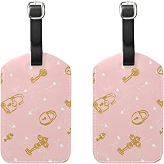 MASSIKOA Keys and Locks Cruise Luggage Tags Suitcase Labels Bag,2 Pack