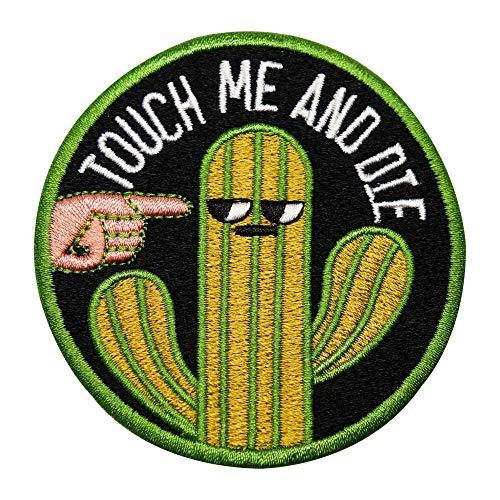 Finally Home Kaktus Touch me and die Patch zum Aufbügeln   Patches, Bügelflicken, Flicken, Aufnäher
