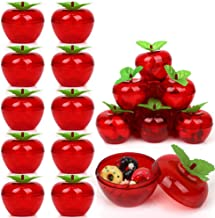 20 Pack Apple Container Christmas Wedding Party Toy Filled Plastic Bobbing Apples Christmas Tree Xmas Decorations Baubles ...