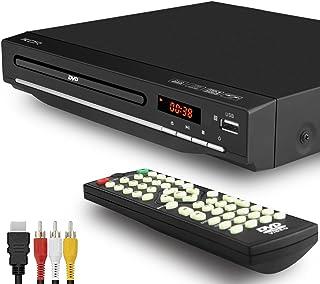 DVD-speler voor tv, dvd-speler met meerdere regio's, USB-aansluiting, afstandsbediening, DivX, HDMI-aansluiting (niet Blu-...