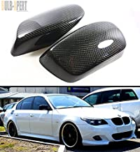Cuztom Tuning Carbon Fiber Side Mirror Cover Caps Overlay Fits for 2004-2010 BMW E60 E61 5 Series