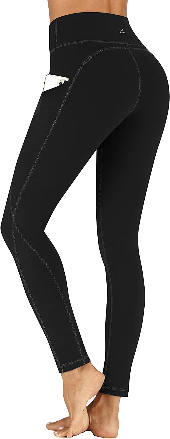 TOREEL Leggings with Pockets Yoga New popularity Max 86% OFF Pants High Waisted for W Women