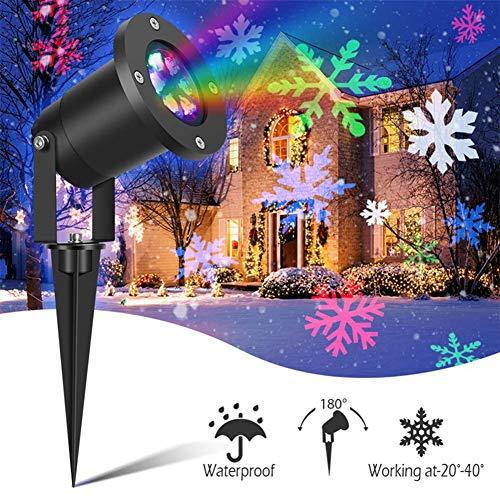 LED Schneefall Lichter, Weihnachtsprojektor, Indoor Outdoor Garten Schnee Szene-Licht, Für Das Neue Jahr-Geburtstags-Party Ostern Halloween-Dekorationen