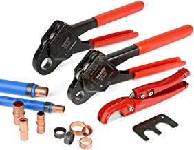 "IWISS Combo Angle Head PEX Pipe Crimping Tool Kits Used for 1/2"" & 3/4"" Pex.."