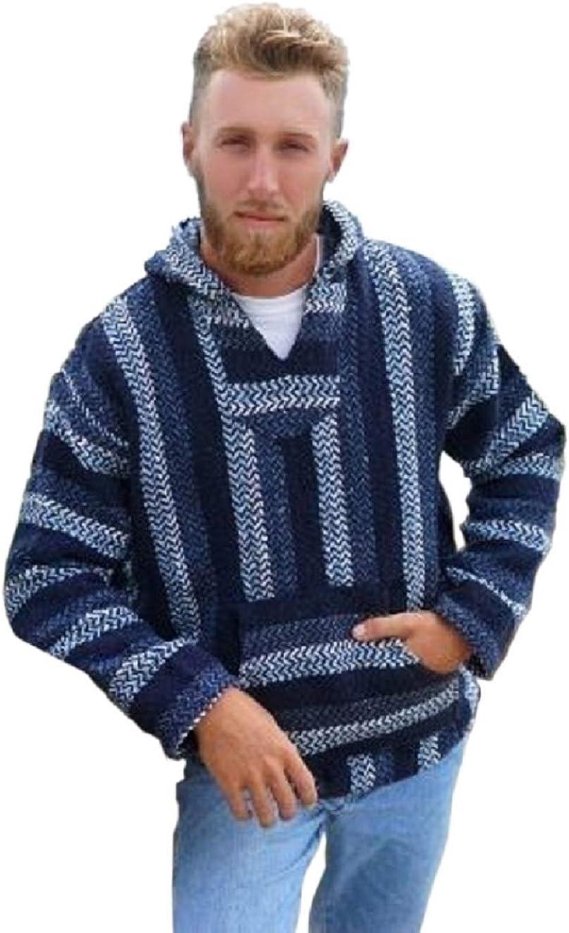 Baja Joe Ranking TOP12 Fixed price for sale Striped Woven Eco-Friendly Coat Hoodie Jacket N Large