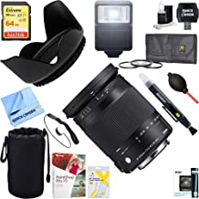 Sigma (886-306 18-300mm F3.5-6.3 DC Macro OS HSM Lens Contemporary for Nikon DX Cameras + 64GB Ultimate Filter & Flash Photography Bundle
