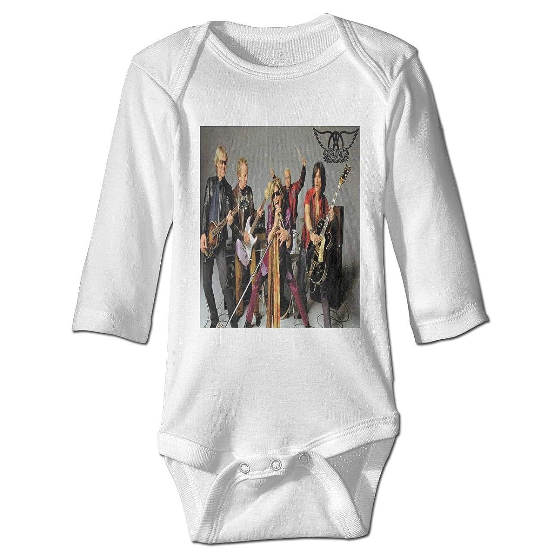 解決温帯トチの実の木赤ちゃん長袖練習クロール衣装 音楽Garth's Aerosmith 純粋な綿素材、赤ちゃんの肌を守り、温かく安全に保ちます