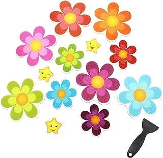 Dylan-EU - Adhesivos antideslizantes para bañera con forma de flor para bañera, bañera, bañera, escaleras, ducha, superficies resbaladizas