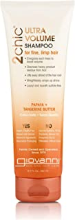 Giovanni Ultra-Volume Shampoo - 2chic Daily Volumizing Formula with Tangerine and Papaya Butter, 8.5 Ounce (Pack of 1)