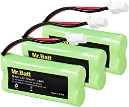 BT183342 BT162342 BT166342 BT262342 BT283342 BT266342 Replacement Battery Pack for Vtech Cordless Phone CS6114 CS6719 CS6124 CS6649 DS6151 AT&T CL4940 EL52300 Handset (3-Pack)