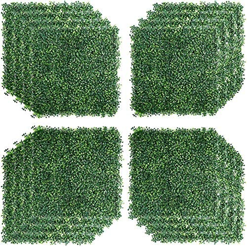 U MAX 12PCS 20x20inch Artificial Boxwood Hedges Panels Outdoor Topiary Hedge Plant UV Protected product image