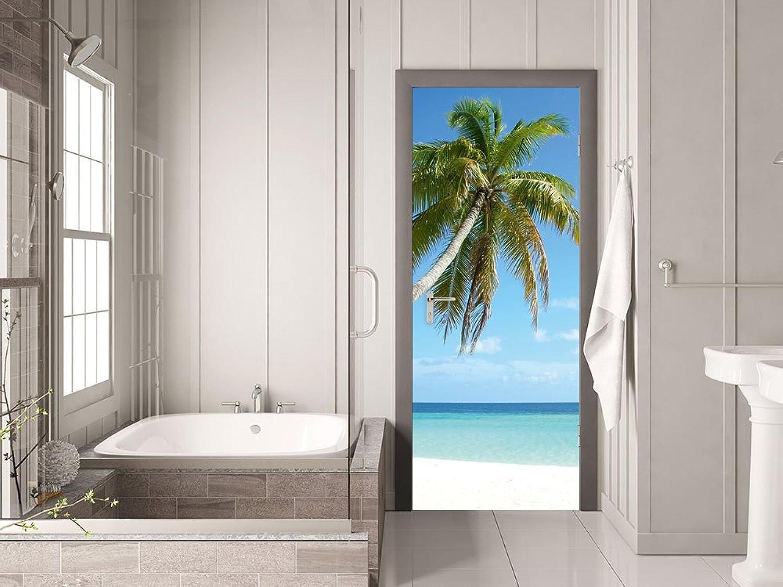 GRAZDesign Türfolie selbstklebend Palme - Fototapete für Tür ...