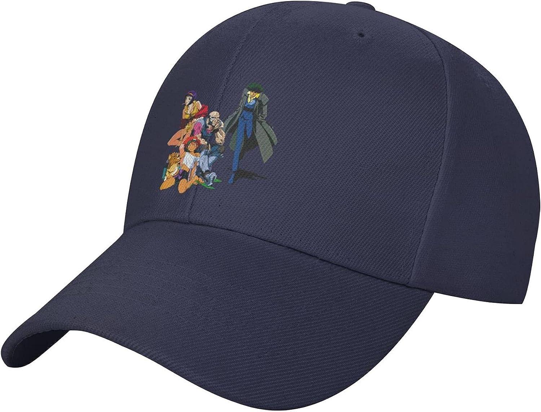 Cowboy Bebop Unisex Baseball Caps Men Comfortable Sports Hat Adjustable Sun Hats Peaked Cap Navy
