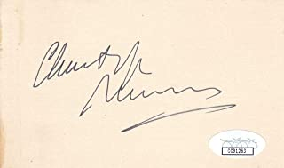 CHRISTOPHER PLUMMER Signed 3x5 Index Card Actor/The Sound of Music CC91263 - JSA Certified